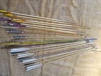 Collection of traditionally made arrows